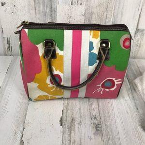 Unique Victoria's Secret floral canvas satchel